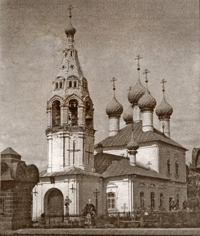 Никольская церковь на правом берегу Волги