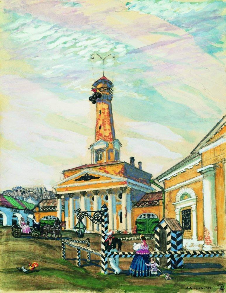 Площадь в Крутогорске. 1915 г.