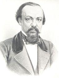 А. Ф. Писемский. Литография В. Бахмана