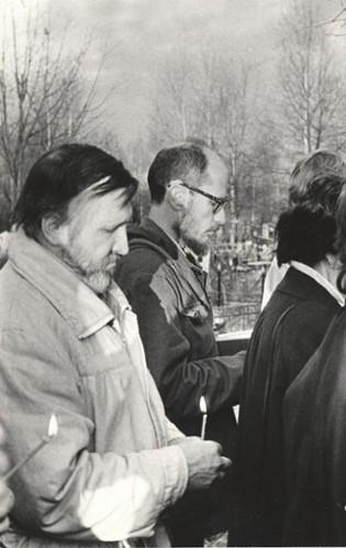 Панихида на могиле А.А. Григорова