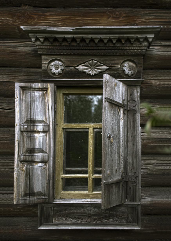 Окно в доме Липатова из д. Кобылино (ныне Журавлево), серед. ХIХ в.