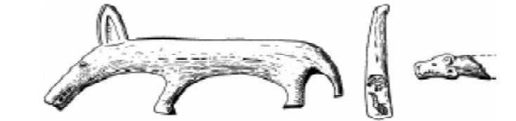 «Дьяковские» изделия из коси и рога [22, стр. 133]