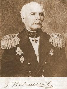 Геннадий Иванович Невельской (1813—1876). С гравюры Е. Боброва. 1877 г.