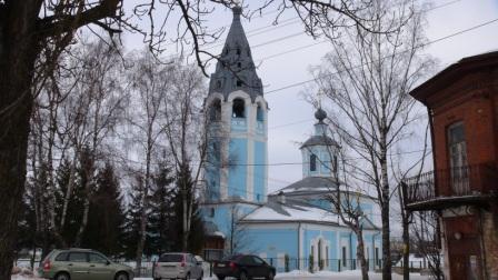 Церковь Успения Пресвятой Богородицы в городе Чухлома, февраль 2014 года. фото М.Шейко