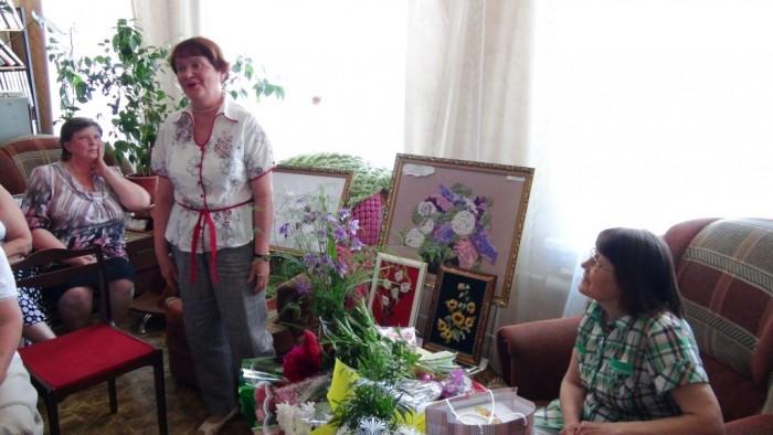 Творческий вечер Е.Л.Балашовой в районной библиотеке, 3 июня 2014 года. фото Михаила Шейко