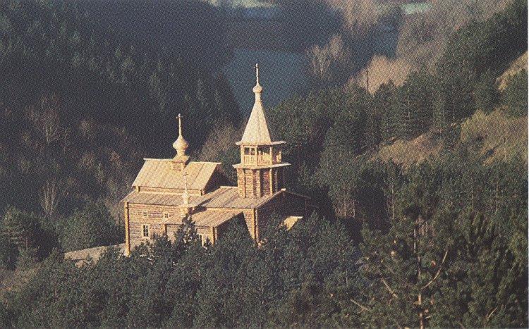 Деревянный храм в аббатстве Сильванес
