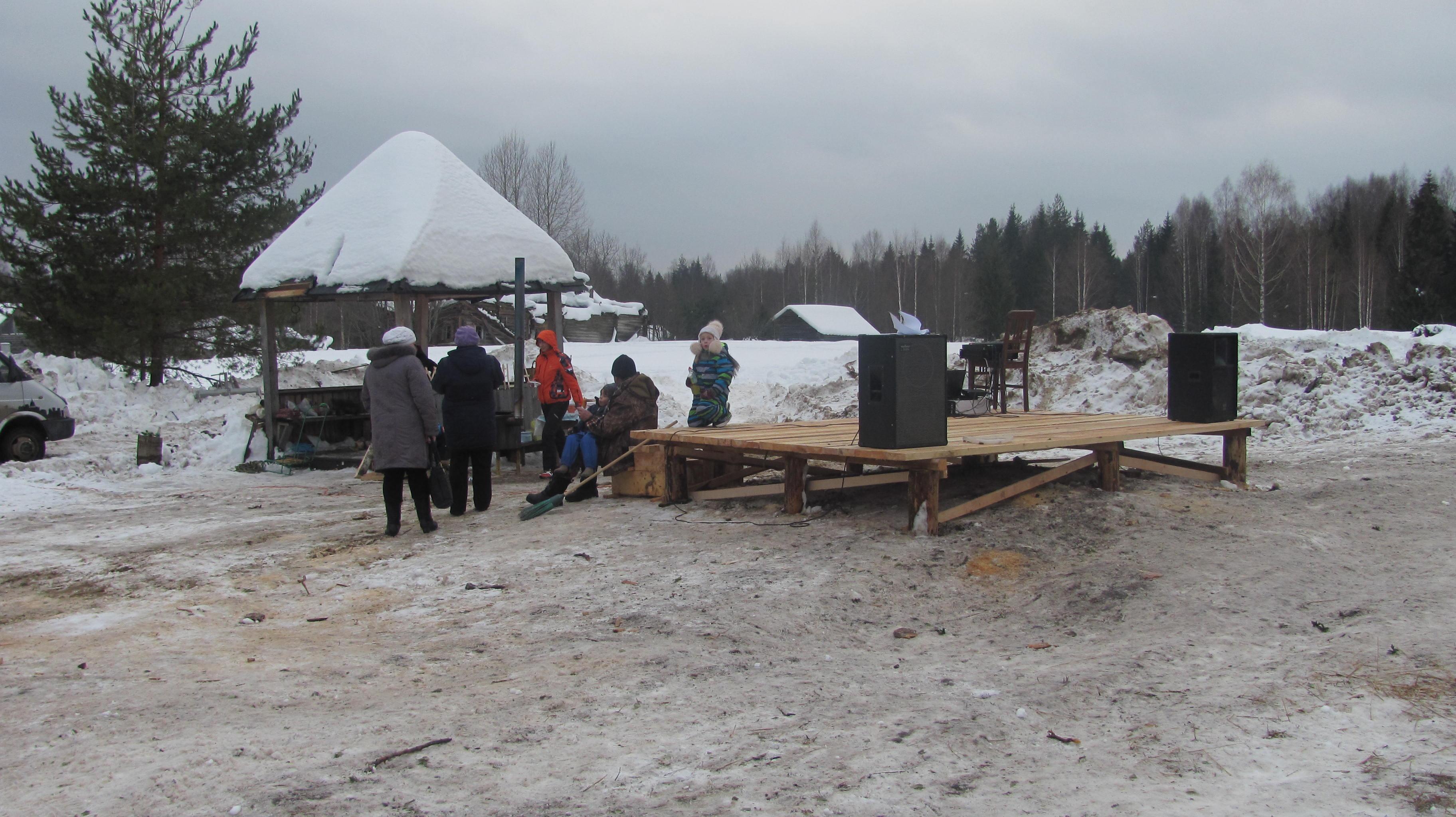Осташово в день проводов зимы. 21 февраля 2015 года.