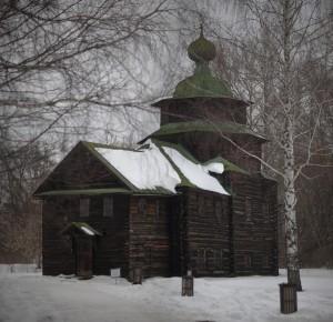Russian wooden church. Деревянная церковь Ильи Пророка