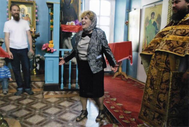 Н.П. Родионова в Никольском храме