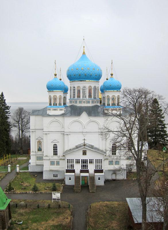 Собор иконы Божией Матери Умиление. Вид с монастырской колокольни.