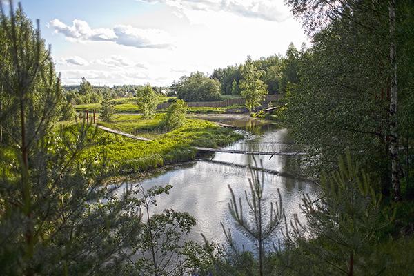 4. Навесной мост над рекой Кубань