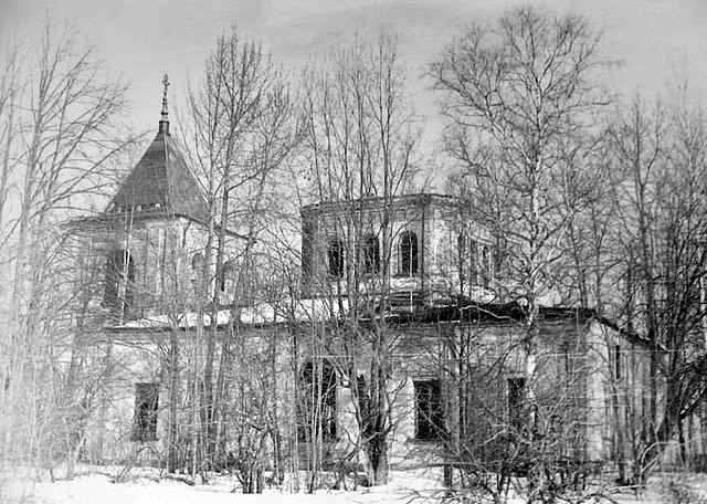Троицкий храм села Рамешки. фото 1974 года.