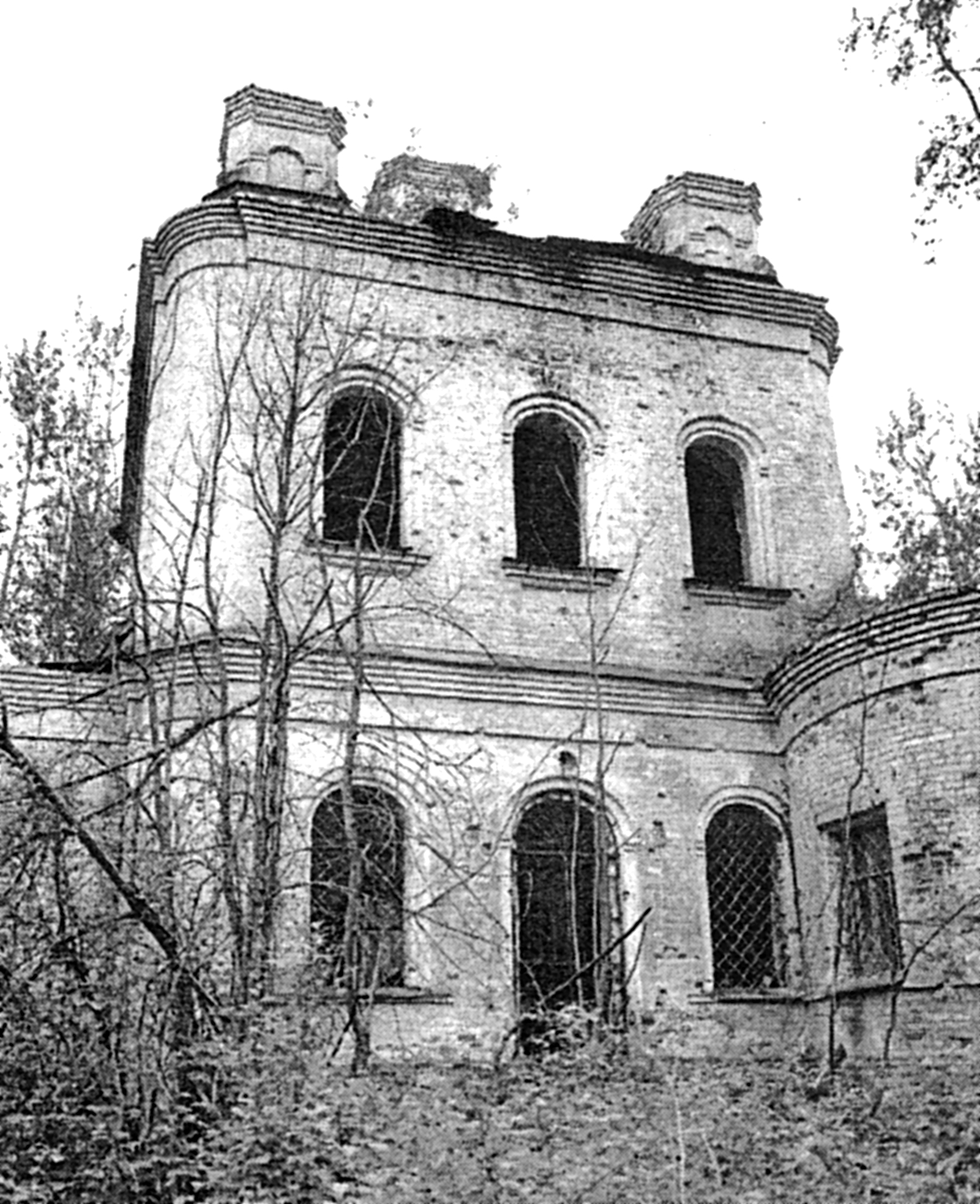 Ризоположенская церковь с. Озерки. Северный фасад. фото 2000 года.